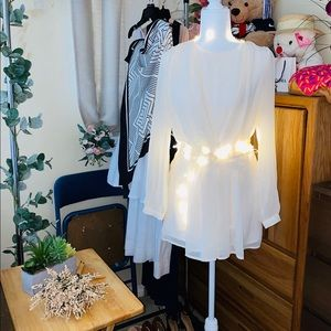 4ever21 long sleeve creamy dress